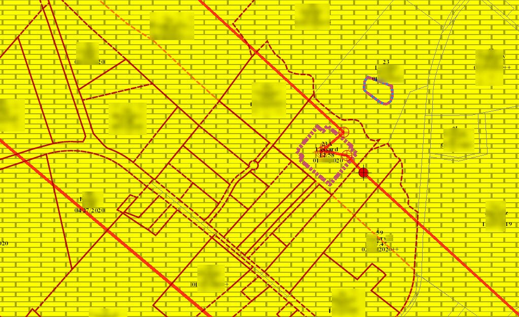 Oil and gas well location created in eQuisition